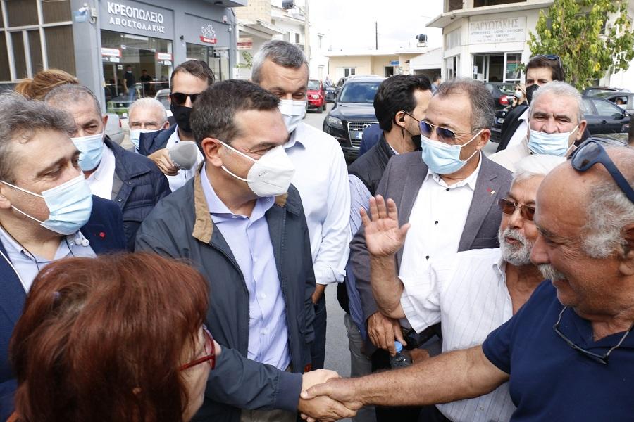 Στις σεισμόπληκτες περιοχές της Κρήτης ο Αλέξης Τσίπρας